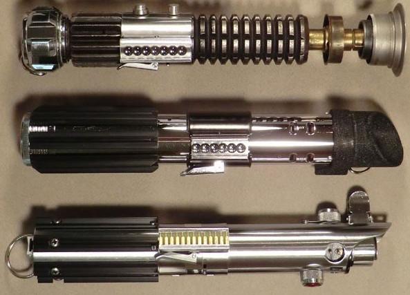 Sables láser de Obi-wan, Vader y Anakin Skywalker
